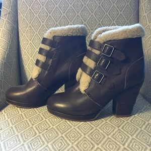 See by Chloé Shearling Heeled Boots 38